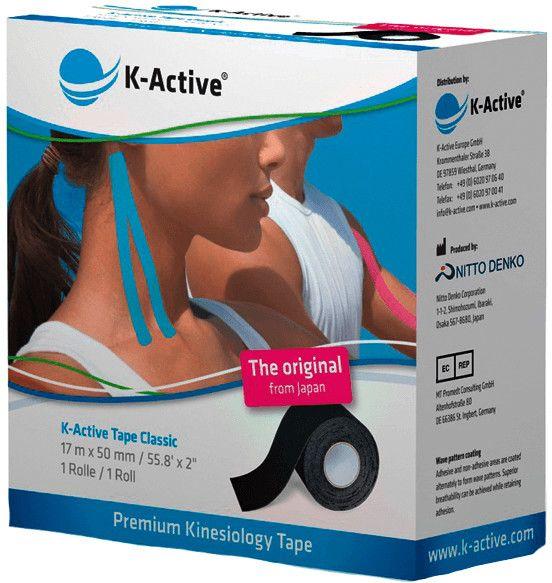 K-Active Tape, 5,0 cm x 17 m, schwarz