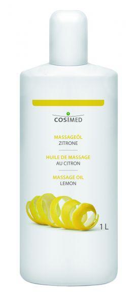 Massageöl - Zitrone - 1 l Flasche