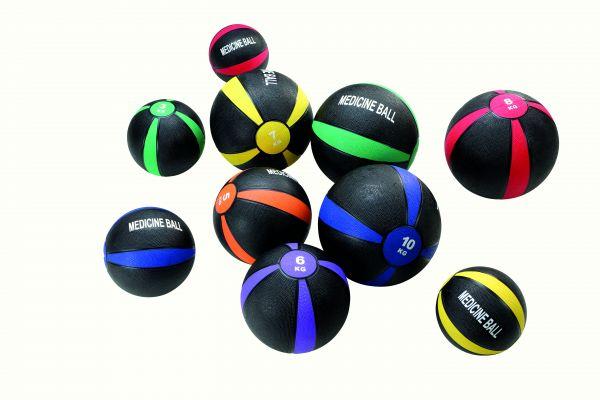 Medizinball 2 kg - ∅ 19,5 cm - schwarz-rot