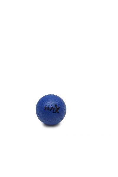 softX® Schaumstoffball mit Haut, blau ∅ 8 cm
