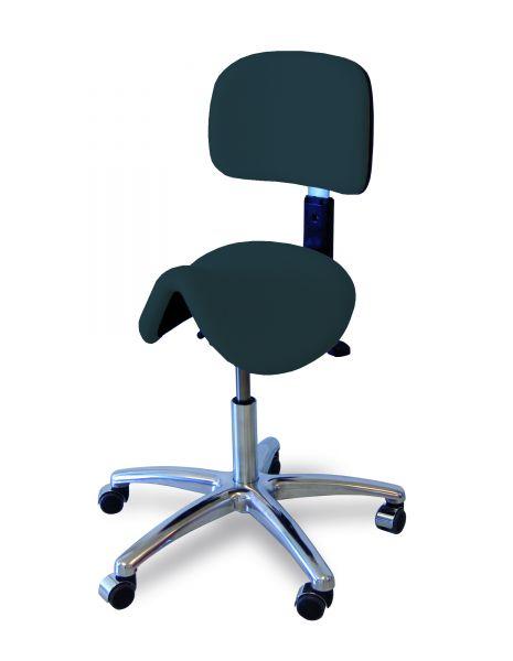 Sattelsitzhocker mit Rückenlehne/50-66 cm