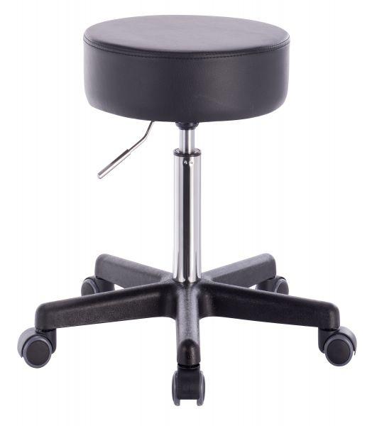 Profi Rollhocker Medic - Sitzhöhe 50,5 - 70,5 cm, schwarz