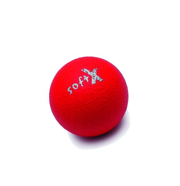 softX® Schaumstoffball mit Haut, rot ∅ 8 cm
