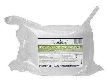 Desinfektionstücher XL NACHFÜLLPACK 120 St. ; 280 x 280 mm