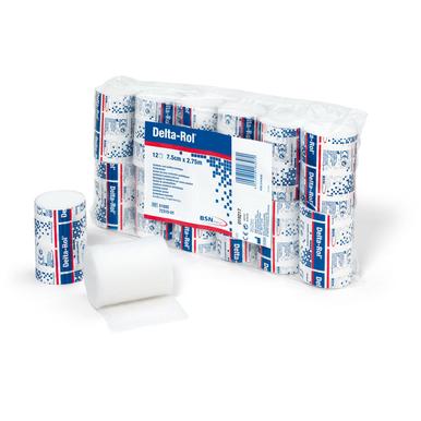Delta-Rol® Polsterwatte weiß, 2,75 m x 7,5 cm - 12 Stück