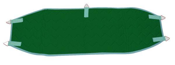Beckenschlinge mit 5 Ringen - grün