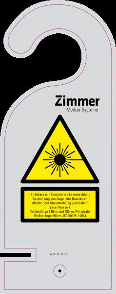 Laserwarnschild inkl. Warnleuchte für OptonPro
