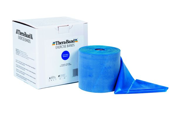 Thera-Band ca. 45 m Rolle extra stark - blau