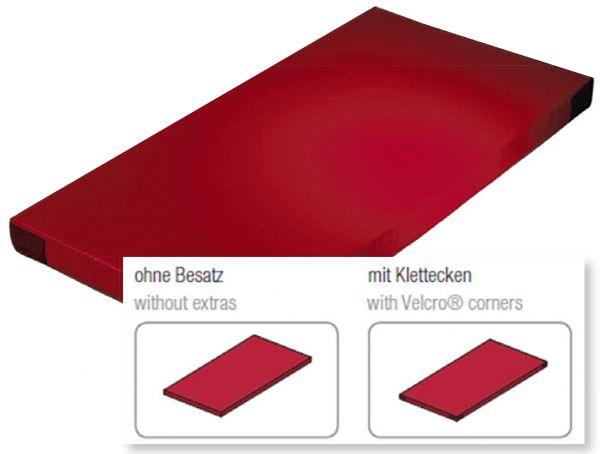 Fallschutzmatte Superleicht rot mit Klettecken