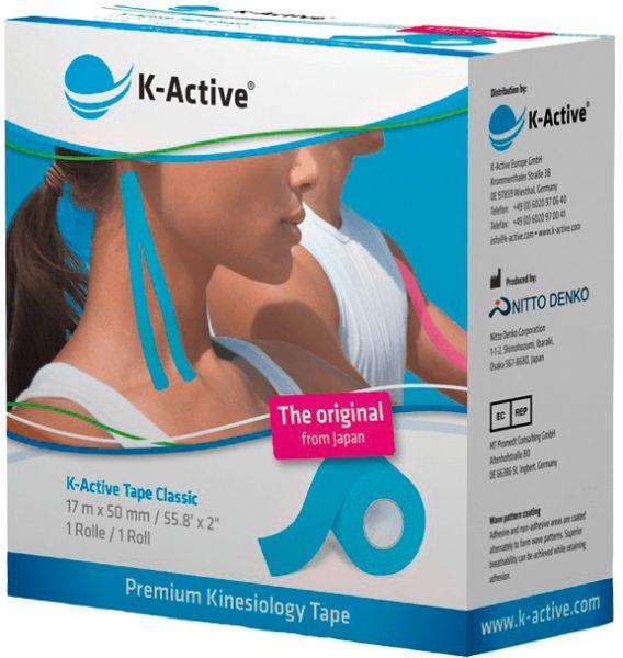 K-Active Tape, 5,0 cm x 17 m blau