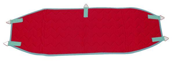 Beckenschlinge mit 5 Ringen - rot