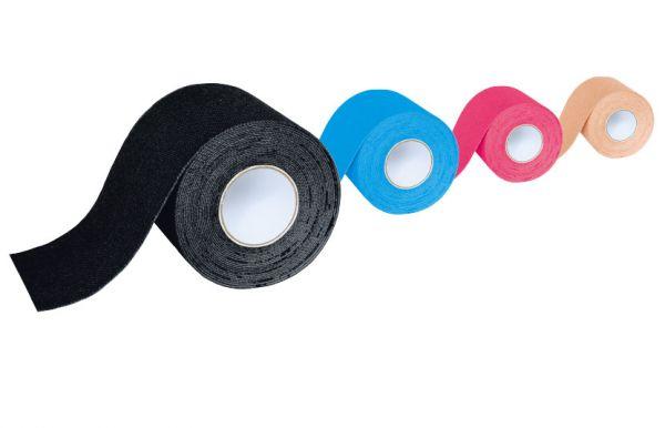 inSports Kinesiologisches Tape schwarz, 5 cm x 5 m