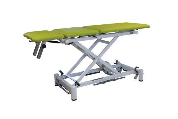 GYM-X II (e) Universal 70 inkl. Fußbügel und Rollenhebevorrichtung, 3-tlg. Liege u. 3-tlg. Kopfteil