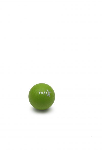 softX® Schaumstoffball mit Haut, kiwi ∅ 8 cm