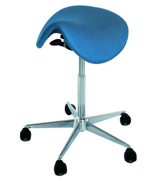 Chrom-Hocker Sattelsitz / harte Rollen